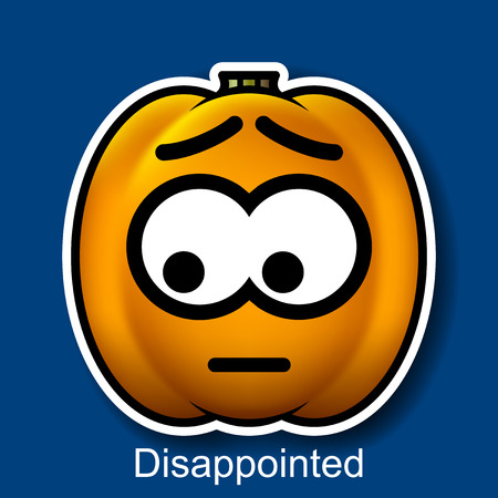 sorry: Vector Halloween Smiley Disappointed