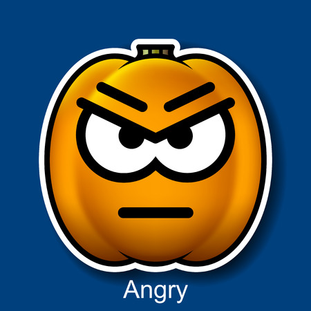 wroth: Vector Halloween Smiley Angry