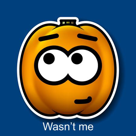deny: Vector Halloween Smiley Wasnt me Illustration
