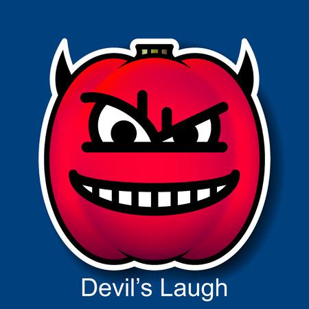 diabolic: Vector Halloween Smiley Devils Laugh