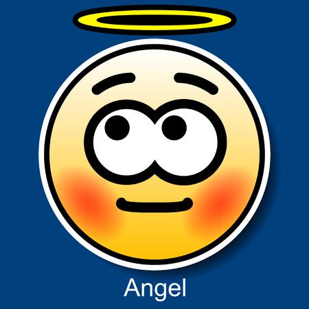 Vector Smiley Angel