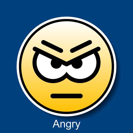 Vector Smiley Angry