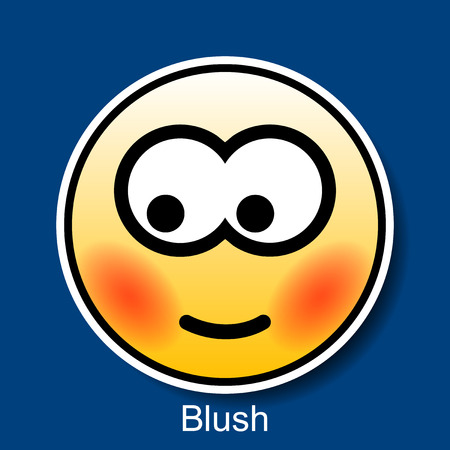smiley icon: Vector Smiley Blush