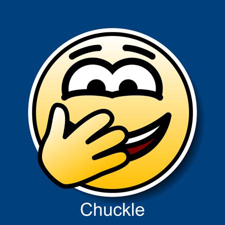 chuckle: Vector Smiley Chuckle Illustration