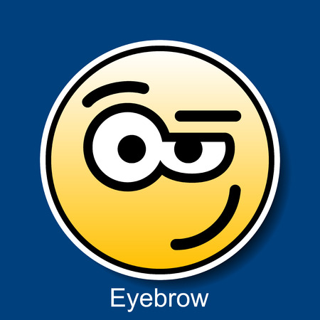 disbelief: Vector Smiley Eyebrow