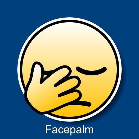 smiley icon: Vector Smiley Facepalm