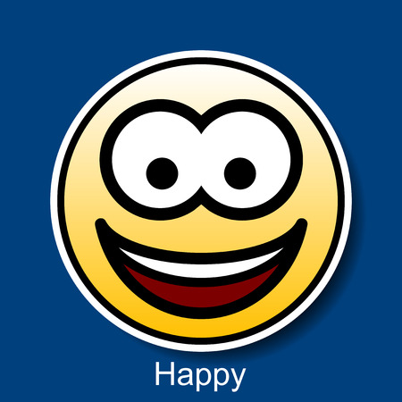 smiley face cartoon: Vector Smiley Happy