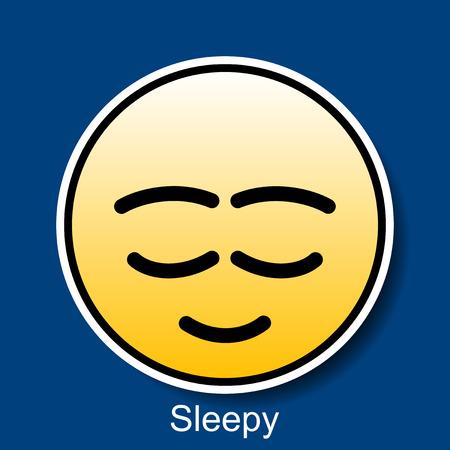 smiley: Vector Smiley Sleepy