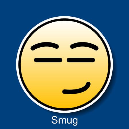 smug: Vector Smiley Smug Illustration