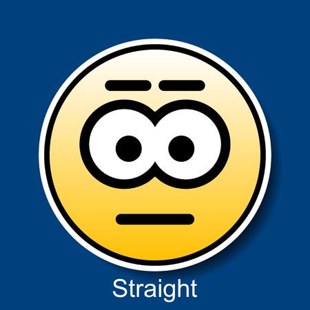 carita feliz caricatura: Vector Smiley Heterosexual