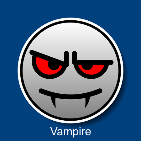 smiley: Vector Smiley Vampire