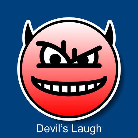 smiley: Vector Smiley Devils Laugh