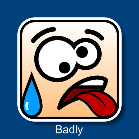 Vector Square Emoticon Badly with rounded corners