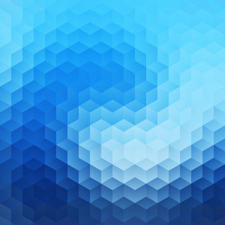 rhomb: Abstract Hexagon Wave Background Illustration