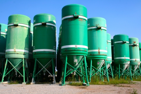 Silos in the street used as container Stock Photo - 16628306