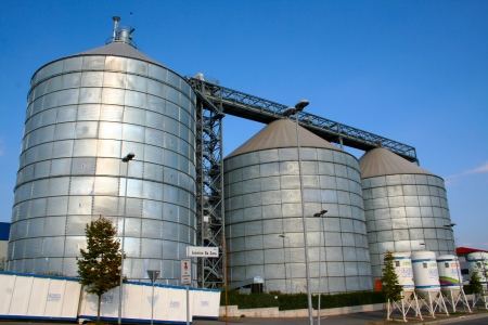 Silos in the street used as container Stock Photo - 16628305