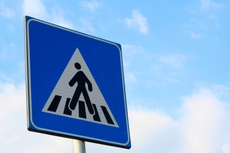 Man crossing the road