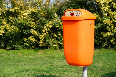 A battery container used in Italy for alkaline and other rubbish Stock Photo