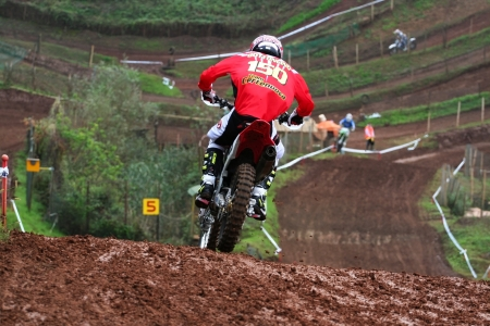 Editorial use  man on motocross downhill