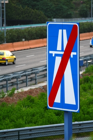 End of the highway in italy