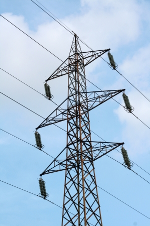 Electricity tower-pole, high voltage Stock Photo - 16935405
