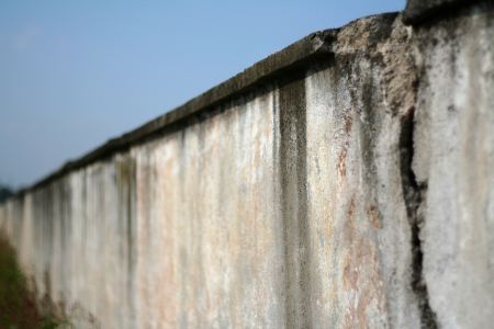 Grey wall background, old and ruined Stock Photo - 16935404