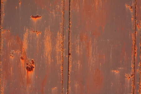 Wall rusted by rain