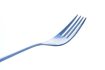 A fork isolated on a white background Stock Photo