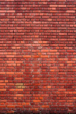 Small red bricks wall great for texture or background.