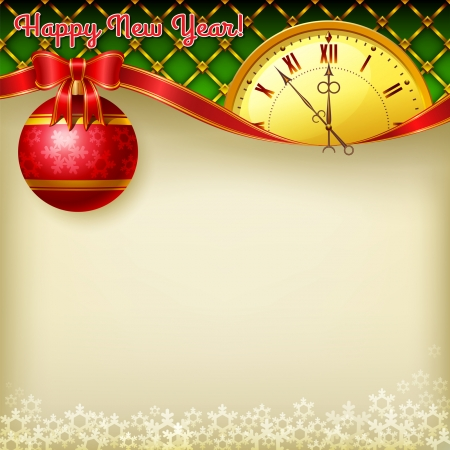 Happy New Year vector background Zdjęcie Seryjne - 24249157