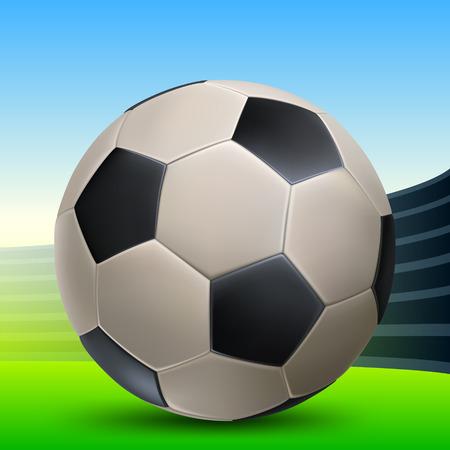 leather football with black polyhedra in the sports arena Zdjęcie Seryjne - 42204545