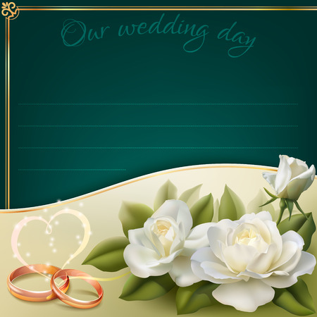 wedding wishes: Invitation card for wedding  Illustration
