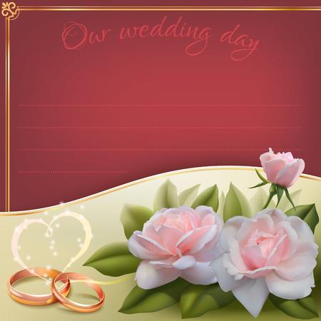 Invitation card for wedding