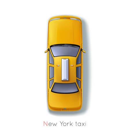 taxi sign: New York, traditional taxis around the world