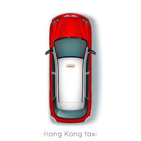 Hong Kong, traditional taxis around the world Zdjęcie Seryjne - 46639643