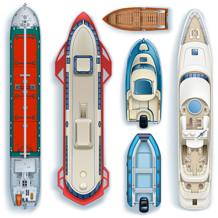 Top view ships icon.