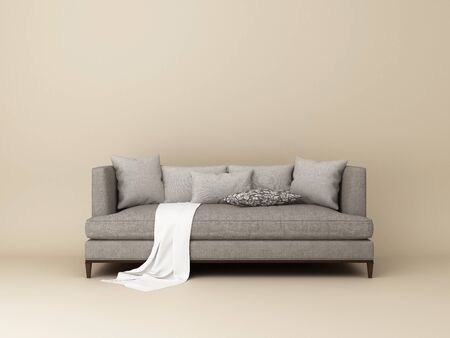 Furniture mock up on a grey background. Stockfoto