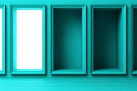 abstract geometric shape pastel color template minimal modern style wall background with lighting grow 3d rendering