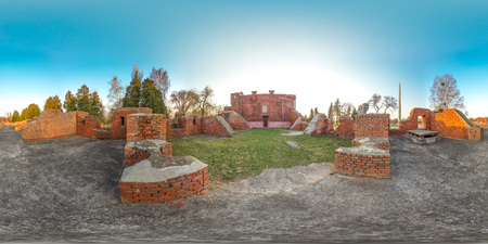 3D spherical panorama with 360 viewing angle. Ready for virtual reality or VR. Full equirectangular projection. Brest fortness. Archivio Fotografico