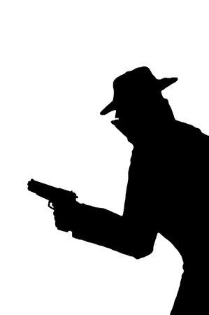 fusils: Homme avec des armes � feu  Banque d'images