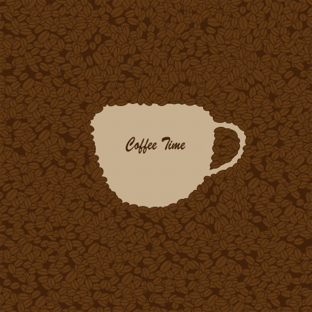 cofee cup: coffee time Illustration