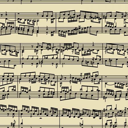 penman: music notes  - seamless vector wallpaper Illustration