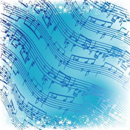 music notes vector: music notes  -  vector background