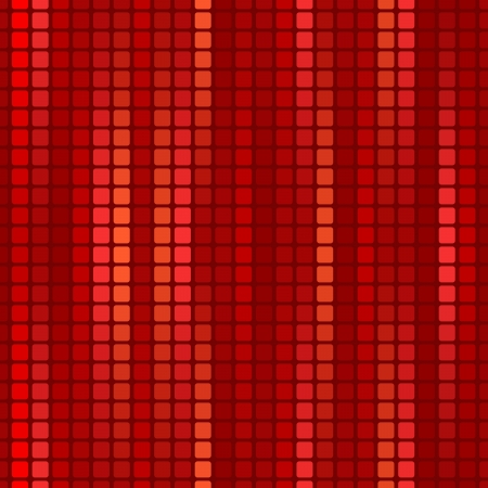 red seamless decorative background with mosaic Vector