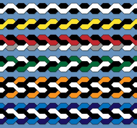 Farbe Flechtmuster Standard-Bild - 16868869