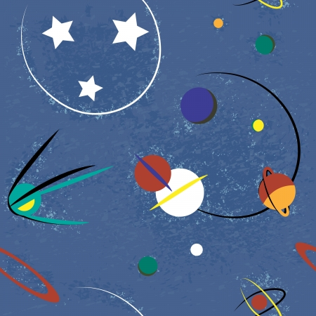 Raum nahtlose Vektor-Illustration Standard-Bild - 17188324