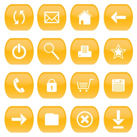 A set of web icons Stock Vector - 17188310