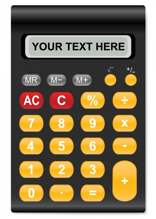 bookkeeper: illustration of calculator  with space for your text