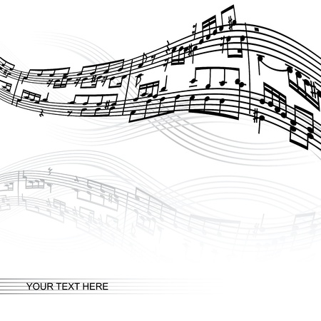 abstract music background with space for your text Stock Vector - 17188318