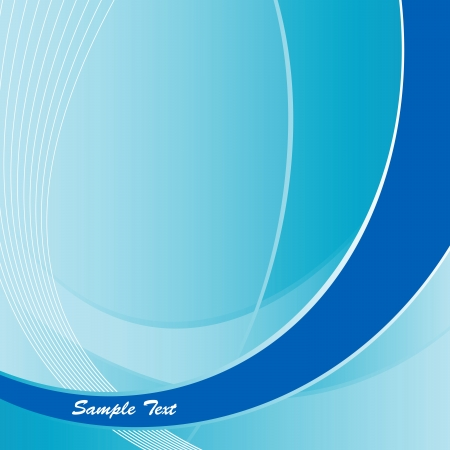 corporative: Abstract blue curves background with space for your text